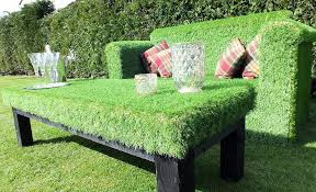 unusual outdoor furniture. super quirky and unusual outdoor garden sofa made from artificial grass furniture i