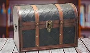 wooden leather round top treasure chest decorative storage trunk within leather storage trunk plans faux leather storage trunk coffee table