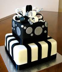 7 White Birthday Cakes For Men Photo Black And White 30th Birthday