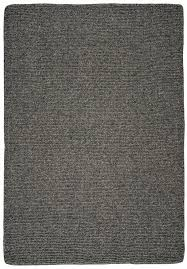 natural wool loom hooked rug solid charcoal