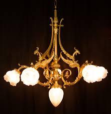 lot 201 antique bronze dragon chandelier