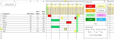 Request Off Calendar Template Employee Vacation Calendar Excel Template Employee Training
