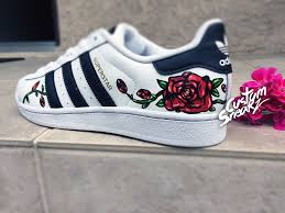 Floral Design Shoes For Ladies Custom Adidas Superstar For Men And Women Adidas Custom