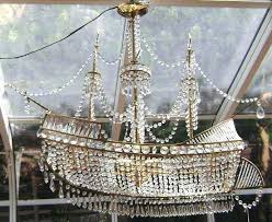 first dibs ship chandelier crystal z gallerie object of desire crystal ship chandelier