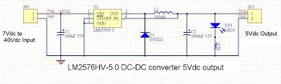 dc dc converter using lm schematics