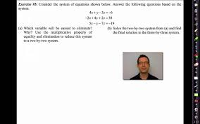 common core algebra ii unit 3 lesson 7 solving systems of linear equations you