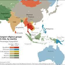 10 Rare World Religions Map 2019