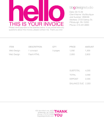 Invoice Template Freelance Invoice Like A Pro Design Examples And Best Practices Magazines 9