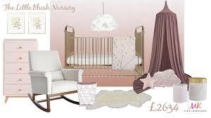 blush and gold mood board nursery interior mk kids interiors