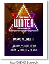 Art Event Flyer Dance Party Dj Battle Poster Design Winter Disco Party Music Event Flyer Or Banner Illustration Template Art Print Poster