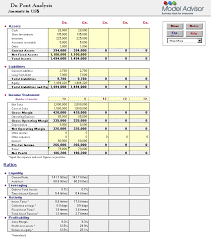 excel financial analysis template du pont analysis financial calculator for excel financial advisor