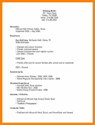 8 Resume Format For High School Students Free Ride Cycles