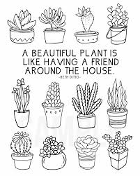 Coloring Sheet For Plant Lovers Live Laugh Rowe