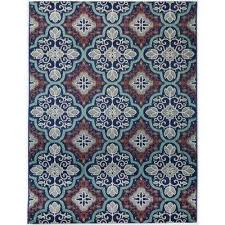 star moroccan navy teal 5 ft 3 in x 7 ft indoor