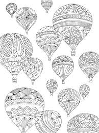 Small Picture 91 best Adult ColouringHot Air Balloons images on Pinterest