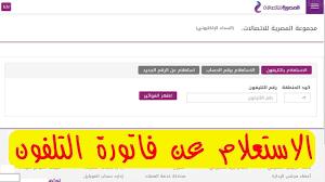 هنا الاستعلام عن فاتورة التليفون الارضي بالرقم شهر يوليو 2021 عبر موقع  الشركة المصرية للاتصالات - كورة في العارضة