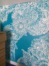 Henna Wall Designs Henna Design Feature Wall Painting In 2020 Mural Wall Art