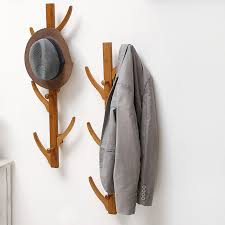 Hanging Coat Rack On Wall Fashion 100 Hooks Wall Hanging Coat Rack Solid Wood Hayfork Hangers 85