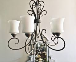 chandelier makeover with chalk paint 2 bees in a pod regarding how to spray paint a