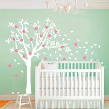 2016 popular product owls and huge white tree vinyl decals baby nursery bedroom wall art new design wall sticker home decor in wall stickers from home  on tree wall art for baby nursery with 2016 popular product owls and huge white tree vinyl decals baby