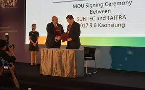 suntec and taitra have taken the steps to a long term cooperation