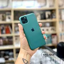 Ốp silicon chống bẩn - màu xanh rêu (MidNight Green) dành cho iPhone 11 -  Pro - Pro Max