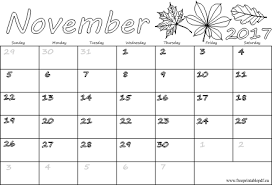 november 2017 calendar with holidays free printable pdf