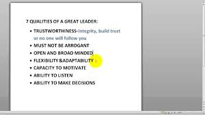 the qualities of a great leader leader the 7 qualities of a great leader leader