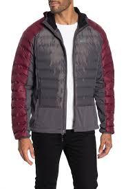 Gerry High Point Hybrid Hooded Zip Puffer Jacket Hautelook
