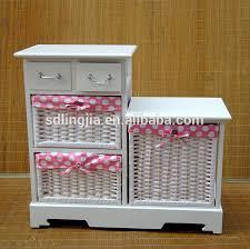kids toy storage furniture. wicker lined basket 2 drawer wooden chest storage furniture kids toy cabinet d
