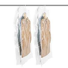 TAILI <b>Hanging Vacuum</b> Wide-<b>Side</b> Space Saver Bags, Set of 2 Long ...