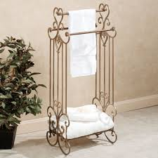Aldabella Satin Gold Bath Towel Rack Stand In Addition To Stunning Towel  Rack Stand (View