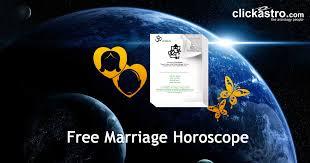 Telugu Marriage Horoscope Free Horoscope Report Clickastro