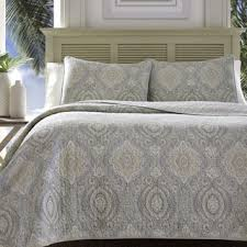 tommy bahama bedspreads. Tommy Bahama Turtle Cove Pelican Medallion Grey Quilt Set Bedspreads O