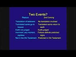 Rapture Vs Second Coming Chart Major Differences Between The Rapture The Second Coming