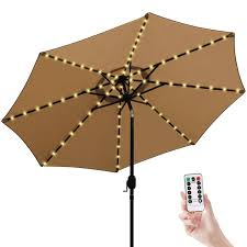 Umbrella Lights Patio Umbrella Lights Cordless Parasol String Lights With Remote Control 8 Mode 104 Led Umbrella Pole Light Battery Operated Waterproof For 9ft 10ft