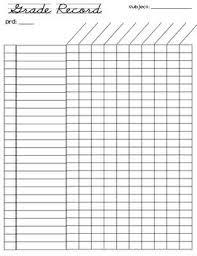 Teacher Record Free Grade Record Sheet 26 Students Teacher Forms