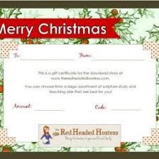 Printable Christmas Certificates Free Editable Christmas Gift Certificate Template 79765600004