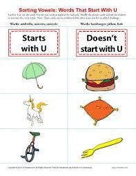 sorting vowels u