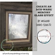 creating an acid wash mercury glass effect on mirrors windows