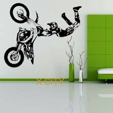 stunt bike motorbike x games mx wall sticker motocross dirt bike grapic creative vinyl art decal on motorbike wall art australia with stunt bike motorbike x games mx wall sticker motocross dirt bike