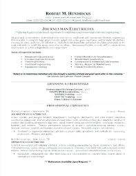 Example Electrician Resume Enchanting Journeyman Electrician Resume Template Supergraficaco