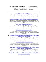 theories of academic performance essays and term papers nursing theories of academic performance essays and term papers nursing college