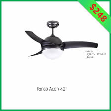 fanco acon 42 inch ceiling fan with light and remote furniture on carou