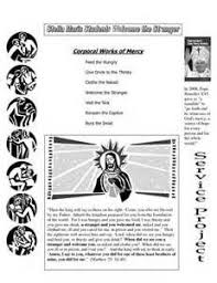 works of mercy worksheet feeding the hungry at mission solano year of mercy pinterest