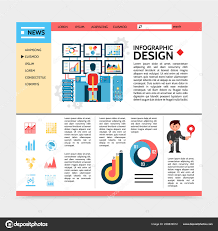 Infographic Website Template Flat Business Infographic Website Template Stock Vector Mssa