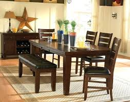 small dark oak dining table and chairs antique 8 wood leaf set bench furniture delectable 1 pretty