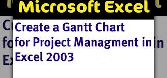 How To Making A Gantt Chart With Excel Microsoft Office