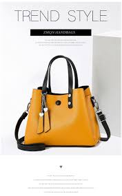 Womens Designer Bags Us 18 37 56 Off Zmqn Women Leather Handbag 2019 Casual Crossbody Bag Yellow Bags Ladies Designer Handbags High Quality Shoulder Bags Female A818 In