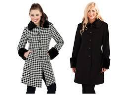 womens warm winter coat faux fur cuffs collar woollen jacket las size uk 8 14